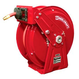 """Reelcraft DP7850 OMP 1/2""""x50' 3000 PSI Heavy Duty Spring Retractable Compact Dual Pedestal Hose Reel"""