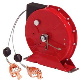 Reelcraft G 3050 Y, Static Discharge/Grounding Reel, 50ft  Cable, w/Dual Clamps on end