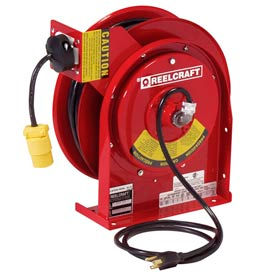 Reelcraft L 4050 163 3 16 AWG / 3 Cond  x 50ft, 15 AMP, Single Outlet, with Cord