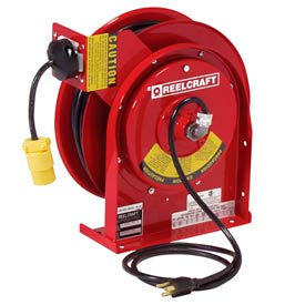 Reelcraft L 5550 123 3 12 AWG / 3 Cond  x 50ft, 15 AMP, Single Outlet, with Cord, 44 lbs