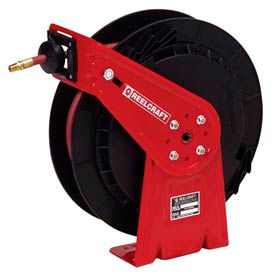 "Reelcraft RT435-OHP 1/4""x 35' 5000 PSI Medium Duty High Pressure Spring Retractable Hose Reel"