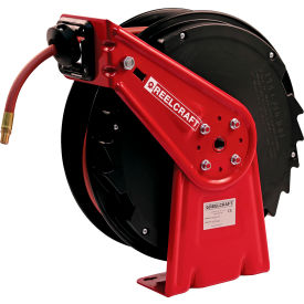 "Reelcraft RT465-OLP 1/4""x65' 300 PSI Medium Duty Low Pressure Spring Retractable Hose Reel"