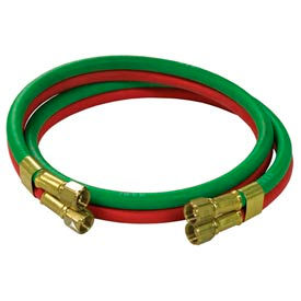 """Reelcraft S600100-6 1/4""""x6' 200 PSI RM-Grade Twin Welding Oxygen/Acetylene Only Hose Assembly"""