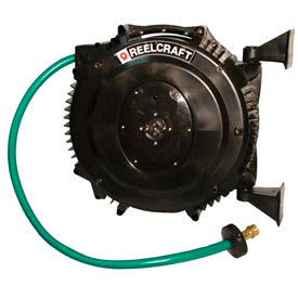 "Reelcraft SWA3850 OLP 5/8""x 50' 125 PSI Spring Retractable Composite Water Hose Reel"