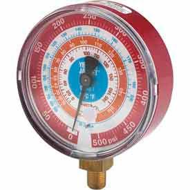"Red Pressure Gauge R-134A, R-404A, R-407C 3-1/8"""