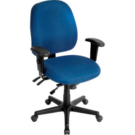 4X4 Task Chair, 49802ANAVY, Navy Fabric, Adjustable Arms