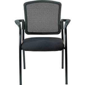 Eurotech Dakota Side Chair - Black Fabric / Mesh - Non-Adjustable Arms