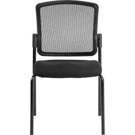 Eurotech Dakota Side Chair - Black Fabric / Mesh - Armless Arms