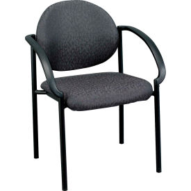 DAKOTA Side Chair, 9011-CH, Charcoal Fabric, Non-Adjustable Arms