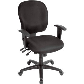 Eurotech Racer Task Chair - Black Fabric