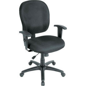 RACER Task Chair, FT4547-NAVY, Navy Fabric, Adjustable Arms