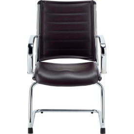 Eurotech Europa Guest Chair - Black Leather - Non-Adjustable Arms