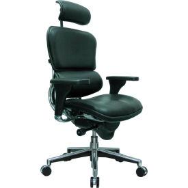 Eurotech Ergohuman Executive High Back Chair - LE9ERG(N) - Black Leather