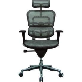 ERGOHUMAN Executive High Back Chair, ME7ERG-GREY(N), Grey Mesh, Adjustable Arms