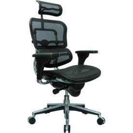 Eurotech Ergohuman Executive High Back Chair - ME7ERG(N) - Black Mesh