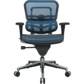 Eurotech Ergohuman Mid Back Chair - ME8ERGLO-BLUE(N) - Blue Mesh