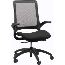 Eurotech Hawk Task Chair - Black Fabric / Mesh - Non-Adjustable Arms
