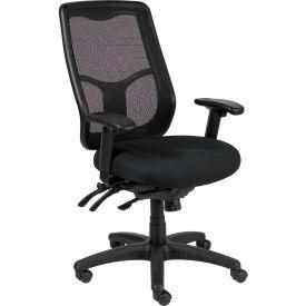 Eurotech Apollo Executive High Back Chair - Black Fabric / Mesh