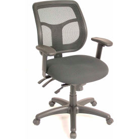 APOLLO Manager Chair, MFT9450, Black Fabric / Mesh, Adjustable Arms