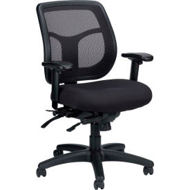 APOLLO Manager Chair, MFT945SL, Black Fabric / Mesh, Adjustable Arms