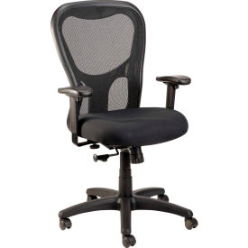 APOLLO Manager Chair, MM9500-BLKM, Black Fabric / Mesh, Adjustable Arms