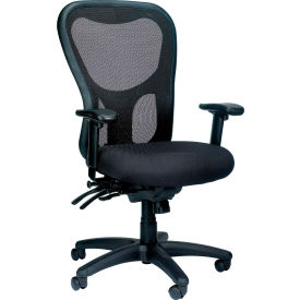 APOLLO Manager Chair, MM95SL, Black Fabric / Mesh, Adjustable Arms