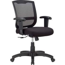 MAZE Task Chair, MT4500-BLK, Black Fabric / Mesh, Adjustable Arms