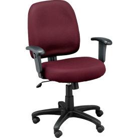 NEWPORT Task Chair, MT5241-BGM, Burgundy Mesh, Adjustable Arms