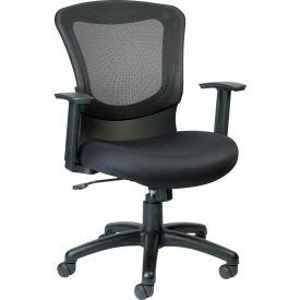 MARLIN Task Chair, MT7500, Black Fabric / Mesh, Adjustable Arms