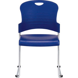 AIRE Side Chair, S5000-NVY, Navy Polypropylene, Armless Arms, 4/PK - Pkg Qty 4