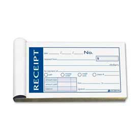 "Adams® Money/Rent Receipt Book, 2-Part, Carbonless, 2-3/4"" x 5-3/8"", 50 Sets/Pad"