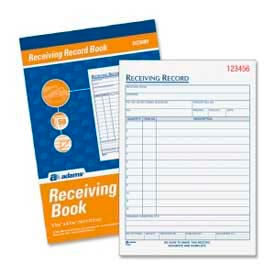 "Adams® Receiving Record Book, 2-Part, Carbonless, 5-9/16"" x 8-7/16"", 50 Sets/Pad"