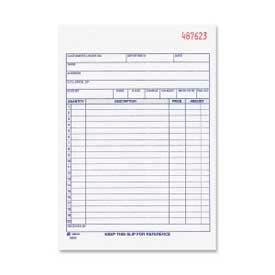 "Adams® Sales Order Book, 2-Part, Carbonless, 5-9/16"" x 8-7/16"", 50 Sets/Pad"