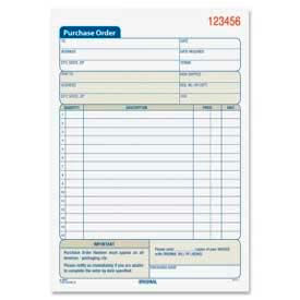 "Adams® Purchase Order Book, 2-Part, Carbonless, 5-9/16"" x 8-7/16"", 50 Sets/Book"
