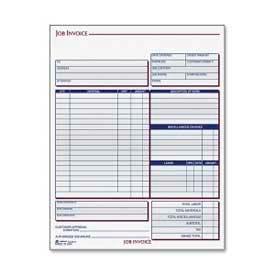 """Adams® Job Invoice Unit Set, 2-Part, Carbonless, 8-1/2"""" x 25-7/16"""", 100 Sets/Pack"""