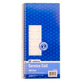 """Adams® Service Call Book, 2-Part, 5-1/2"""" x 11"""", White/Canary, 200 Sets/Pad"""