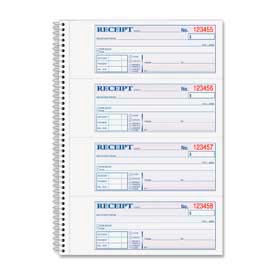 "Adams® Money/Rent Receipt Book, 2-Part, 7-5/8"" x 11"", White/Canary, 200 Sets/Pad"