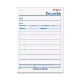 "Adams® Packing Slip Book, 3-Part, Carbonless, 5-9/16"" x 8-7/16"", 50 Sets/Pad"