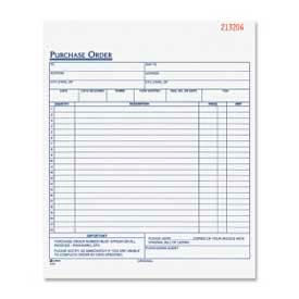 "Adams Purchase Order Book, 3-Part, Carbonless, 8-3/8"" x 10-11/16"", 50 Sets/Pad by"