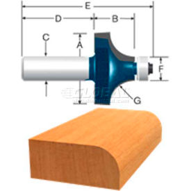 BOSCH Carbide Tipped Roundover Router Bit With Ball Bearing, 85595MC