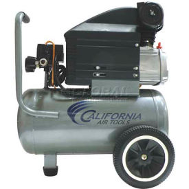 California Air Tools Portable Air Compressor CAT-263DLH, Steel Tank, 110V, 2HP, 6.3 Gal
