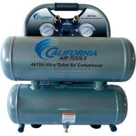 California Air Tools Portable Air Compressor CAT- 4610A, Ultra Quiet & Oil Free, 110V, 1HP, 4.6 Gal