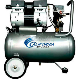 California Air Tools Portable Air Compressor CAT- 6310, Ultra Quiet & Oil Free, 110V, 1HP, 6.3 Gal