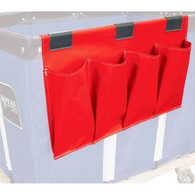 Janitorial Supply Organizer, Red Vinyl, 4 Pockets