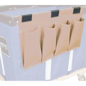 Janitorial Supply Organizer, Tan Vinyl, 4 Pockets
