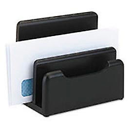 Wood Tones Desktop Sorter, Black