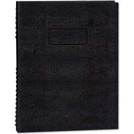 """Blueline® Exec Wirebound Notebook A7150EBLK, 9-1/4"""" x 7-1/4"""", Black Cover, 75 Sheets/Pad"""