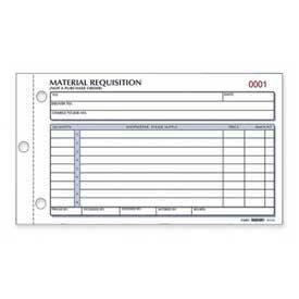 "Rediform® Material Requisition Book, 2-Part, Carbonless, 4-1/4"" x 7-7/8"", 50 Sets/Book"