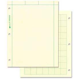 """Rediform® National Computation Pad, 8-1/2"""" x 11"""", Quad Ruled, Green, 100 Sheets/Pad"""