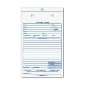 """Rediform® Job Work Order Book, 2-Part, Carbonless, 5-1/2"""" x 8-1/2"""", 50 Sets/Book"""